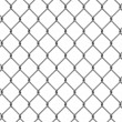 Stock Photo: Seamless fence isolated
