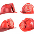 Fireman helmet from various angles — Stock Photo