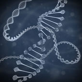 DNA 3d illustration — Foto Stock