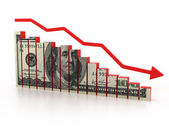 Financial crisis, dollar diagram — Stock Photo