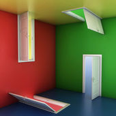 Colorful abstract doors — Stockfoto