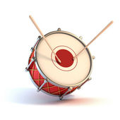Bass drum instrument - announcement 3d concept — Stockfoto