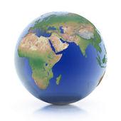Planeta tierra aislada sobre fondo blanco — Foto de Stock
