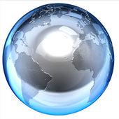抽象孤立的 3d 地球 — 图库照片