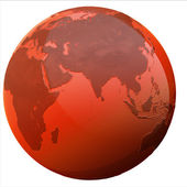 Abstract isolated 3d globe — Stock Photo