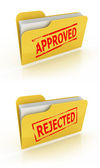 Folder icon for approved , rejected documents — Stock Photo