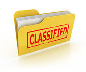 Classified folder icon over the white — Stock Photo