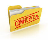 Confidential folder icon over the white background — Stock Photo