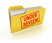Under review icon — Stock Photo