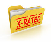 Folder with explicit content 3d icon — Stock Photo