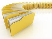 Many folders on the white background — Stock Photo
