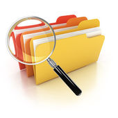 Folders search 3d icon — Stock Photo