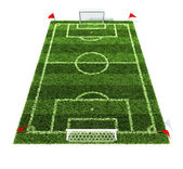 Football field isolated on white background — 图库照片