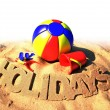 Summer holidays poster — Stock Photo #9790814