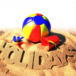 Stock Photo: Summer holidays poster