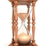 ampulheta, relógio de temporizador, areia areia, areia — Foto Stock