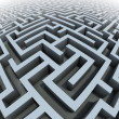 3d labyrinth — Stock Photo