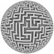 Royalty-Free Stock Photo: Labyrinth planet - endless maze with spherical shape