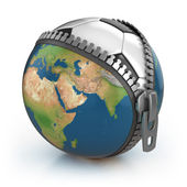Planet of football 3d concept — Stock Photo