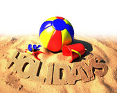 Summer holidays poster — Stock Photo