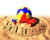 Summer holidays poster — Stock Photo