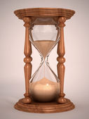 Hourglass, sandglass, sand timer, sand clock — Stock Photo