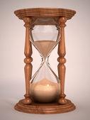 Hourglass, sandglass, sand timer, sand clock — Stock Photo