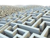 Endless labyrinth — Stock Photo
