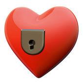 Hearth padlock — Stock Photo
