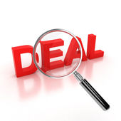 Finding a good deal icon — Stock Photo