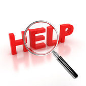 Search for help icon — Stock Photo