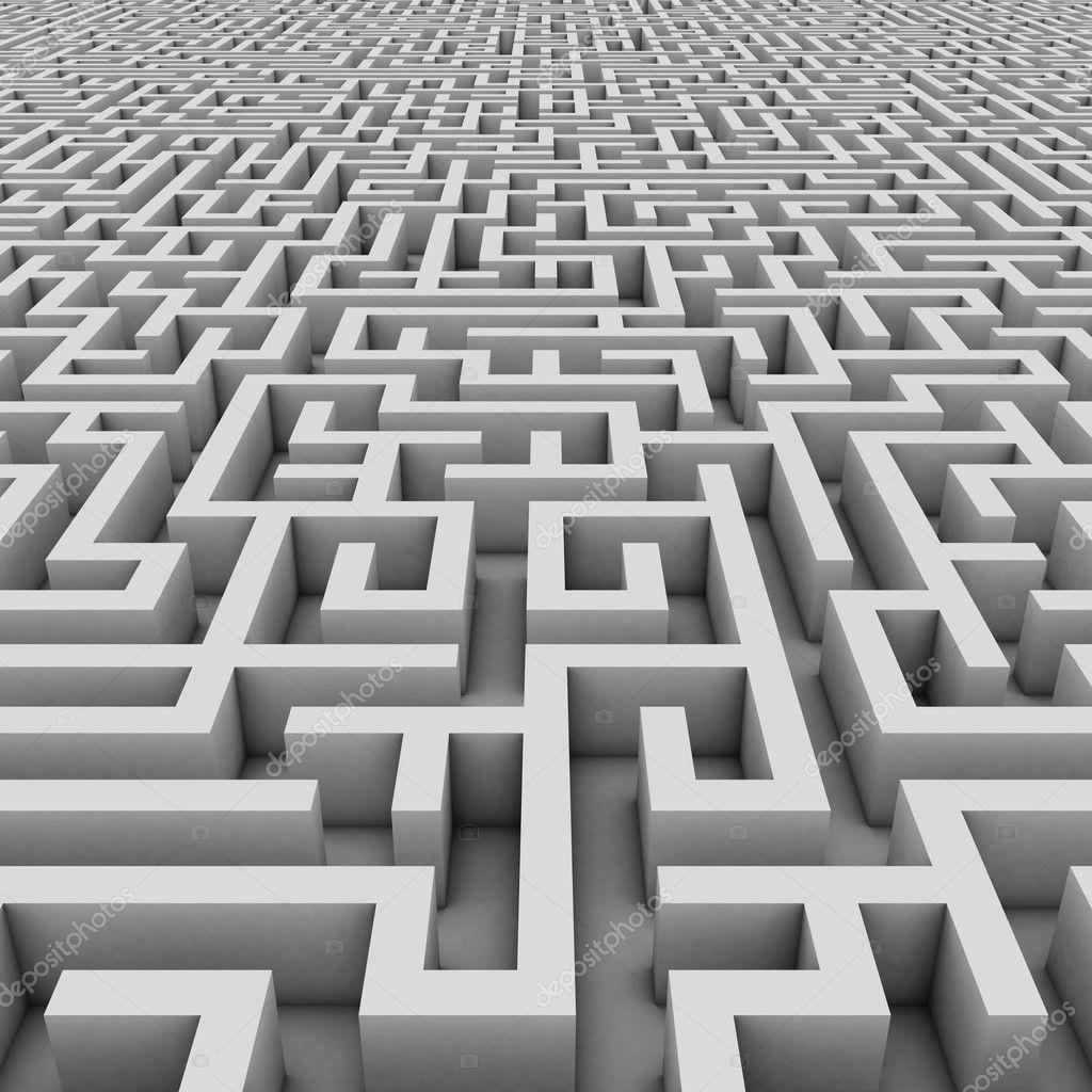 3d Maze Drawing Endless Maze 3d Illustration