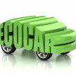 Eco car 3d concept — Stock Photo