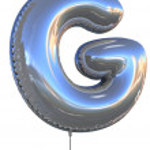 ballon de lettre g — Photo