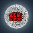Social network abstract sphere - Foto Stock