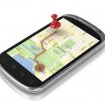 Smart phone navigation — Stock Photo