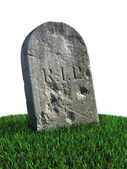 Gravestone on the grass — Stock Photo