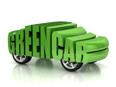 Green car 3d concept — Stock Photo