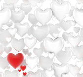 Seamless 3d hearts background — Stock Photo