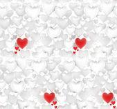 Seamless 3d hearts XXL background — Stock Photo