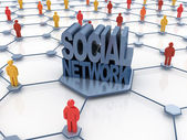 Social network abstract — Stock Photo