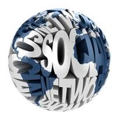Social network abstract globe — Stock Photo