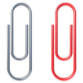 Paper clip isolated over white background — Zdjęcie stockowe
