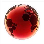 Planet football — Stock Photo