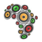 Africa music continent — Stock Photo