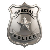 Police badge isolated — Stock Photo