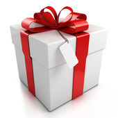 Caixa de presente sobre fundo branco — Foto Stock