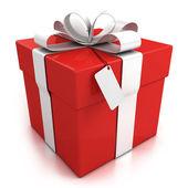 Caja de regalo sobre fondo blanco — Foto de Stock
