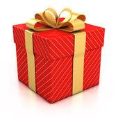 Beyaz arka plan üzerinde hediye kutusu — Stok fotoğraf