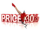 30 percent discount — Stock Photo